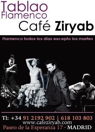 Pepa Molina y Rubén Puertas. Cuadro de Café Ziryab
