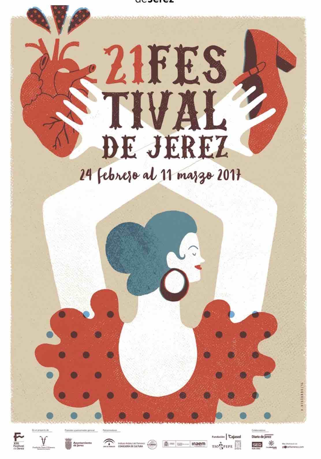 cartel festival flamenco de jerez de la frontera 2017