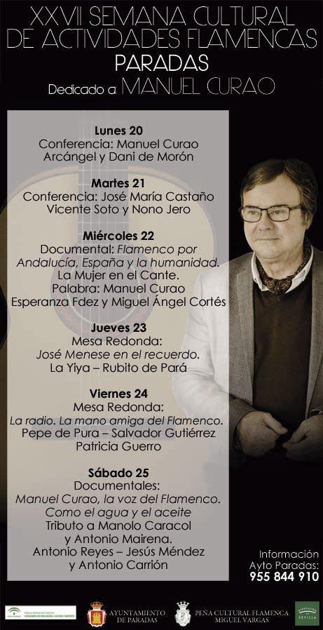XXVII SEMANA. Conferencia: Flamenco y radio por José María Castaño. Recital: Vicente Soto Sordera y Nono Jero