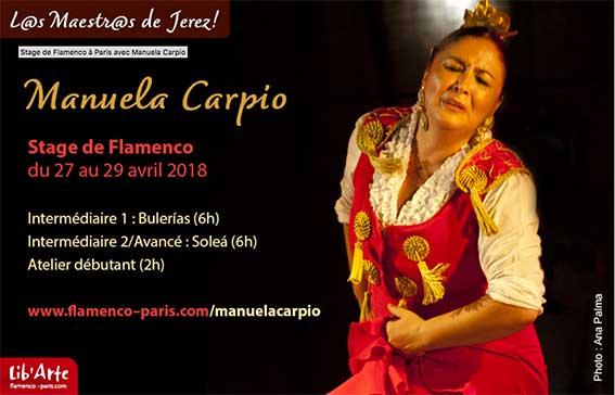 Cursos con L@s Maestr@s de Jerez. Manuela Carpio