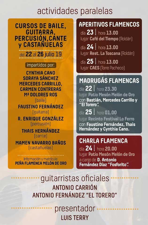 Cursos con Cythia Cano, Soraya Sánchez, Mercedes Carrillo, Carmen Contreras...