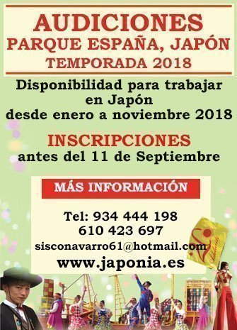 Audiciones de Parque España - Japón 2018