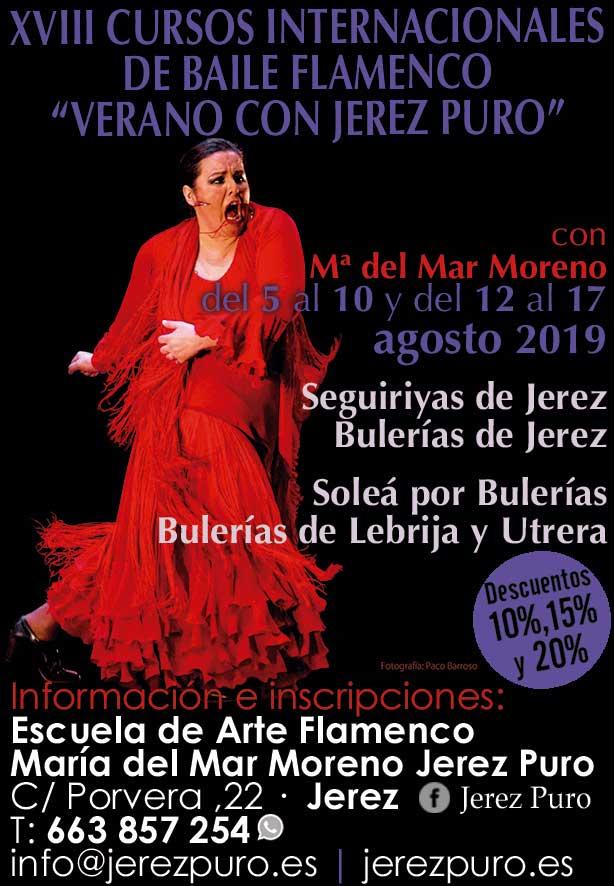 XVIII CURSOS INTERNACIONALES DE BAILE FLAMENCO. VERANO CON JEREZ PURO. María del Mar Moreno