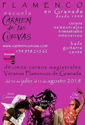 X Veranos Flamencos de Granada - Carmen de las Cuevas. Jesús Carmona, Belén Maya y Olga Pericet
