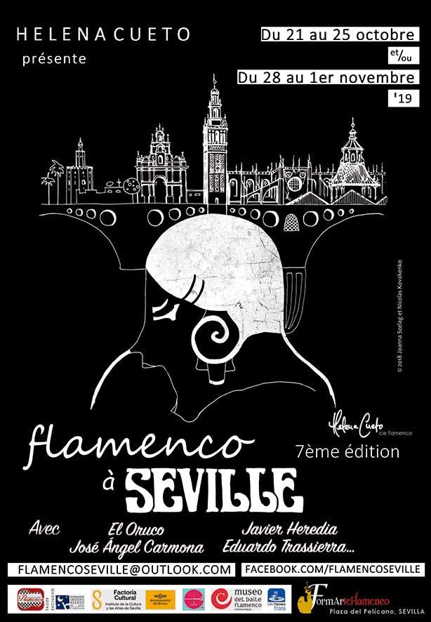 Helena Cueto présente 'Flamenco à Seville'. Avec El Oruco, José Ángel Carmona, Javier Heredia, Eduardo Trassierra...