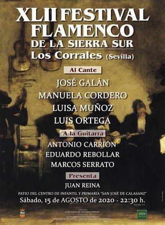 XLII FESTIVAL FLAMENCO DE LA SIERRA SUR. José Galán, Manuela Cordero, Luisa Muñoz y Luisa Ortega. Antonio Carrión, Eduardo Rebollar y Marcos Serrato