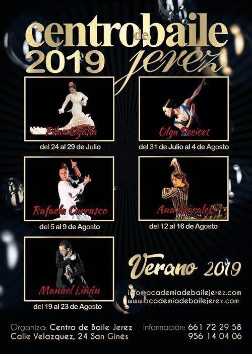 CURSOS DE VERANO EN JEREZ 2019. Pilar Ogalla, Olga Pericet, Rafaela Carrasco, Ana Morales y Manuel Liñán