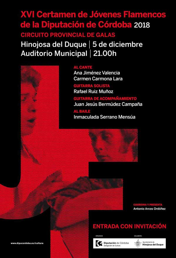 Gala XVI Certamen de Jóvenes Flamencos Diputación de Córdoba
