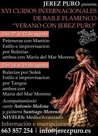 XVI CURSOS INTERNACIONALES DE BAILE FLAMENCO 'VERANO CON JEREZ PURO'