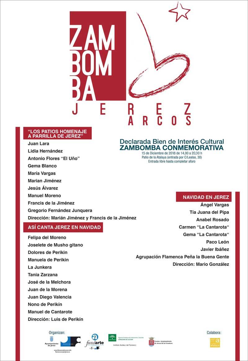 ZAMBOMBA CONMEMORATIVA. Ángel Vargas, Tía Juana la del Pipa, Anabel Rosado, Cantarota, Peña Buena Gente, Felipa del Moreno, Familia Perikín...