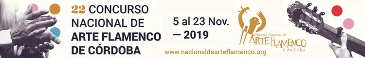 22 Concurso Nacional de Arte Flamenco de Córdoba noviembre 2019