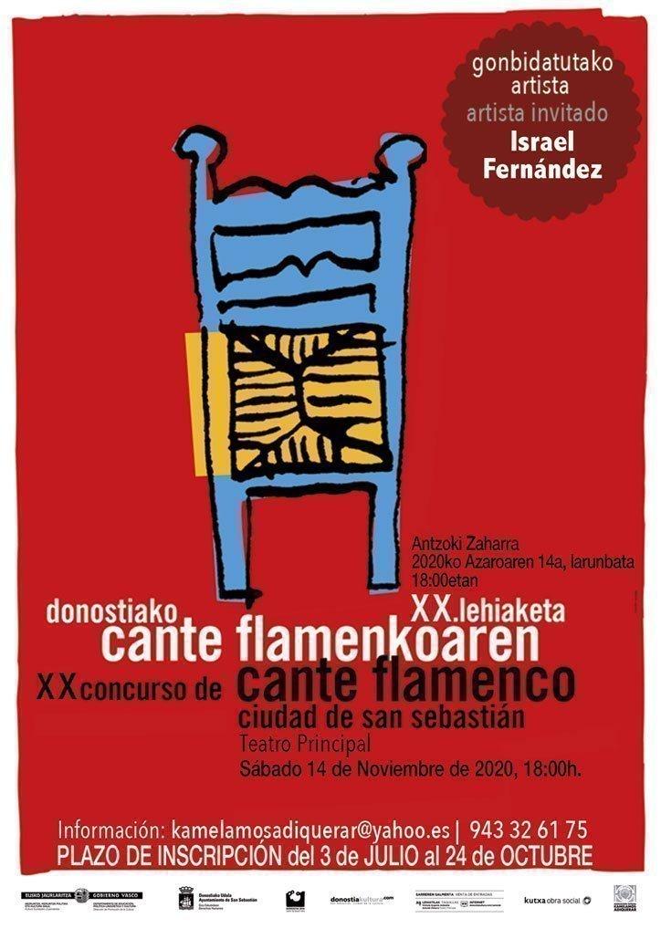 XX CONCURSO DE CANTE FLAMENCO CIUDAD DE SAN SEBASTIÁN 2020. Final. Recital: Israel Fernández