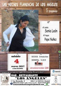 cartel flamenco en restaurante los angeles de leganes