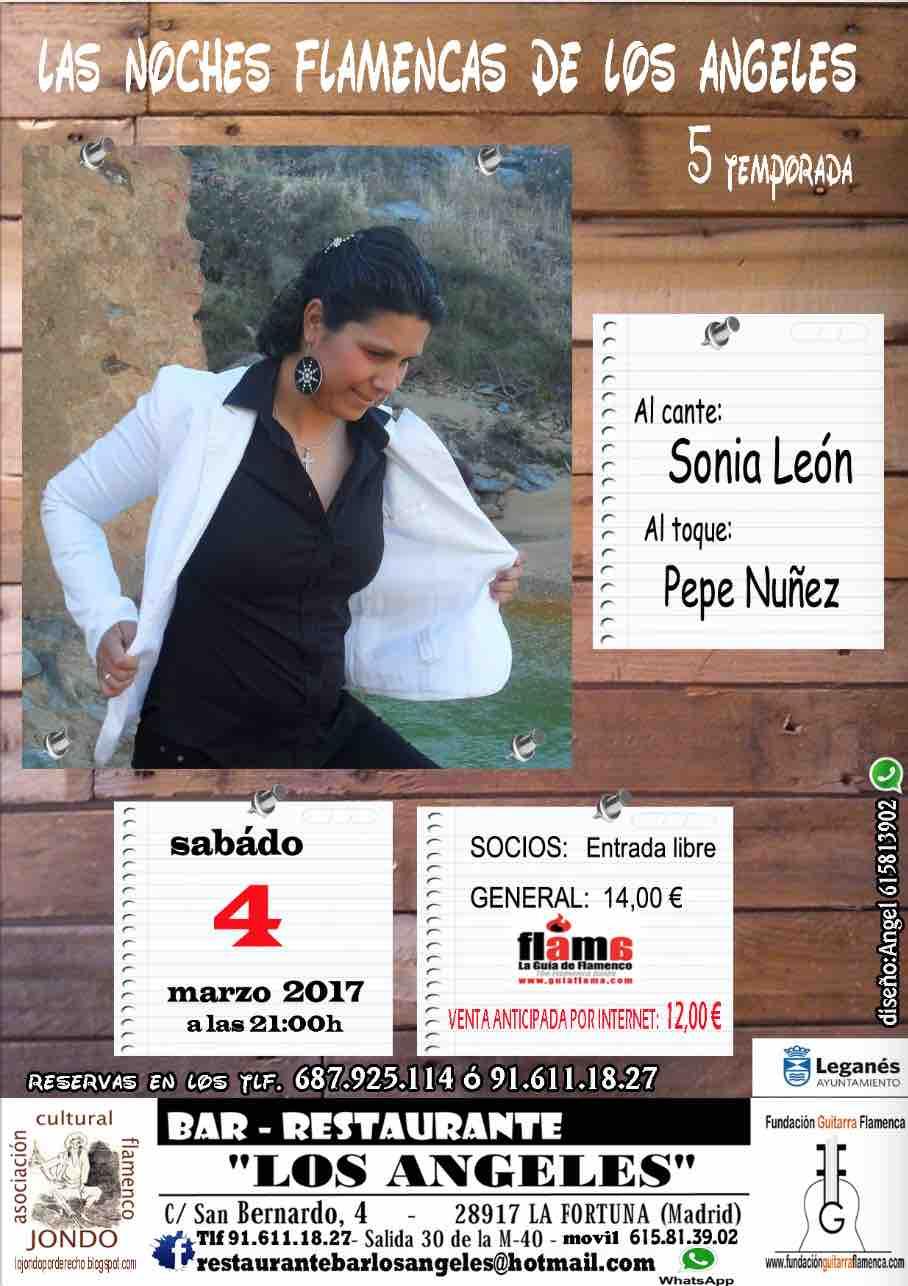 NOCHES FLAMENCAS DE LOS ÁNGELES. Sonia León y Pepe Núñez