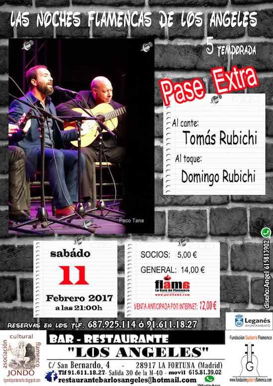 NOCHES FLAMENCAS DE LOS ÁNGELES. Tomás Rubichi y Domingo Rubichi