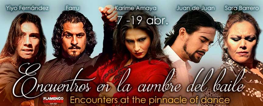 ENCUENTROS EN LA CUMBRE. Karime Amaya, El Farru, Yiyo Fernández, Juan de Juan y Sara Barrer0