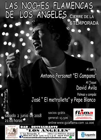 NOCHES FLAMENCAS DE LOS ÁNGELES. Antonio El Campana y David Ávila. El Metralleta y Pepe Blanco