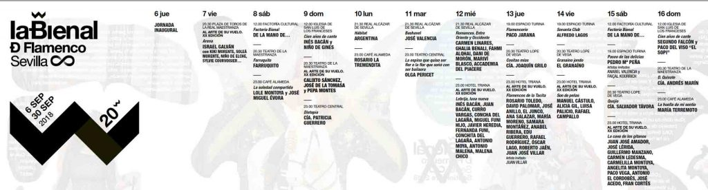 Картинки по запросу Bienal de Flamenco 2018